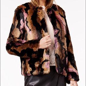 Stunning faux fur jacket.